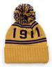 Omega Psi Phi Fraternity Pom Beanie- Crest- Gold/Purple-Back