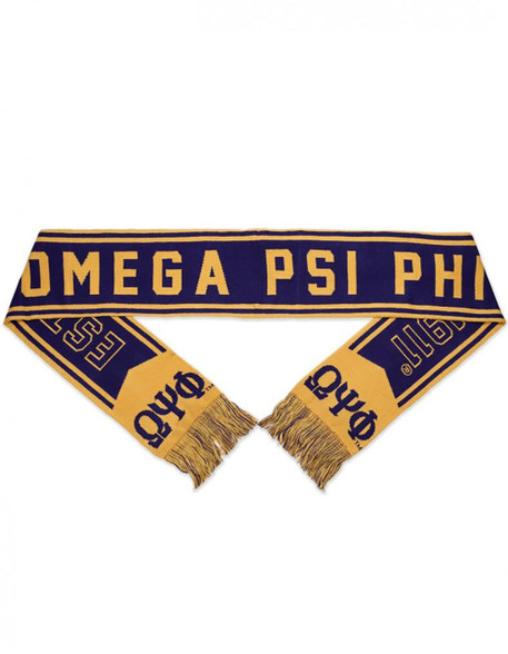 Omega Psi Phi Fraternity Scarf- Purple/Gold