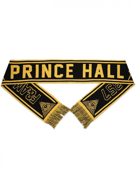 Prince Hall Mason Scarf-Gold/Black