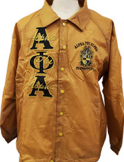 Alpha Phi Alpha Fraternity Line Jacket- Old Gold