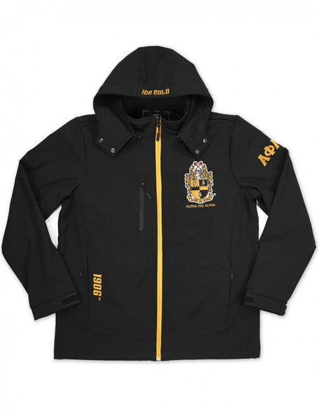 Alpha Phi Alpha Fraternity Waterproof Windbreaker- Front