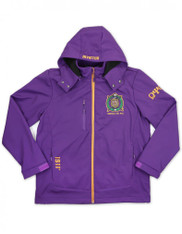 Omega Psi Phi Fraternity Waterproof Windbreaker- Front