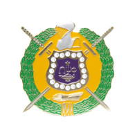 Omega Psi Phi Fraternity Die-Cut Car Badge