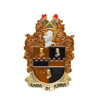 Alpha Phi Alpha Fraternity Die-Cut Car Badge