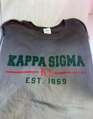 Kappa Sigma Fraternity T-Shirt- Gray