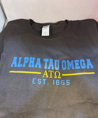 Alpha Tau Omega Fraternity T-Shirt- Gray