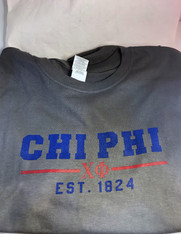 Chi Phi Fraternity T-Shirt- Gray