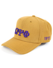 Omega Psi Phi Fraternity Classic Hat- Old Gold