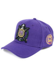Omega Psi Phi Fraternity Crest Hat- Purple- Style 2