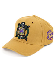 Omega Psi Phi Fraternity Crest Hat- Old Gold- Style 2