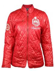 Delta Sigma Theta Sorority Padded Jacket- Red