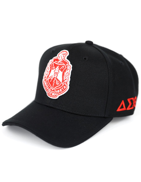 Delta Sigma Theta Sorority Crest Hat-Black