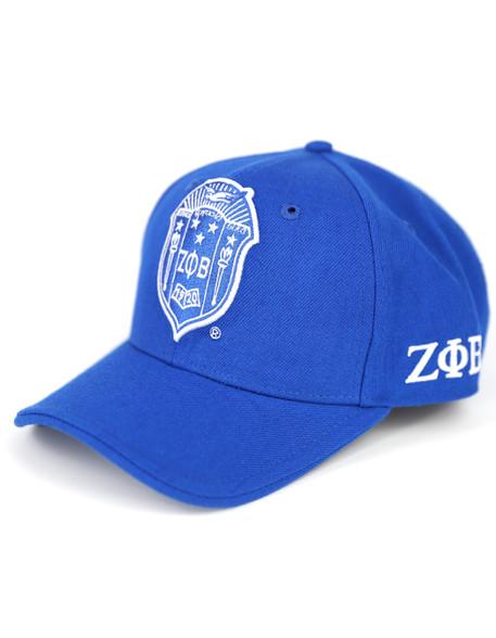 Zeta Phi Beta Sorority Crest Hat-Blue