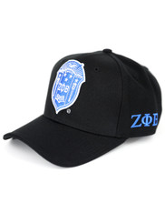 Zeta Phi Beta Sorority Crest Hat-Black