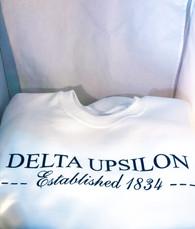 Delta Upsilon Fraternity Crewneck Sweatshirt- White