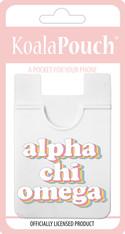 Alpha Chi Omega Sorority Koala Pouch- Retro