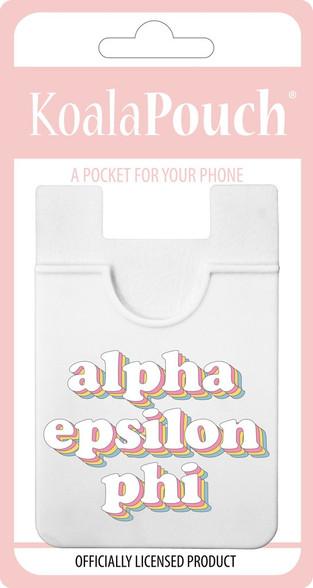 Alpha Epsilon Phi AEPHI Sorority Koala Pouch- Retro