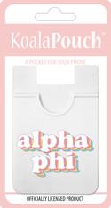 Alpha Phi Sorority Koala Pouch- Retro