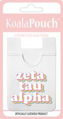 Zeta Tau Alpha ZTA Sorority Koala Pouch- Retro