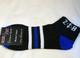 Zeta Phi Beta Sorority Multi-Color Ankle Socks- Black