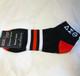 Delta Sorority Theta Sorority Multi-Color Ankle Socks- Black