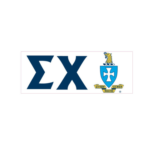 Sigma Chi Fraternity Window Cling