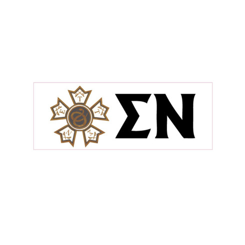 Sigma Nu Fraternity Window Cling