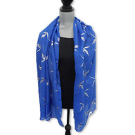 Zeta Phi Beta Sorority Extra Large Scarf- Foil Applique Symbol