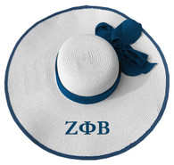 Zeta Phi Beta Sorority Floppy Hat- White