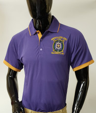 Omega Psi Phi Fraternity Dri-Fit Polo- Purple