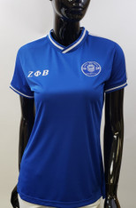 Zeta Phi Beta Sorority Soccer Jersey- Blue