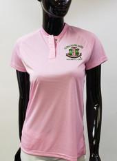 Alpha Kappa Alpha AKA Sorority Blade Collar Polo- Pink