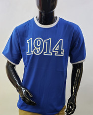Phi Beta Sigma Fraternity Ringer T-shirt- Founding Year- Blue