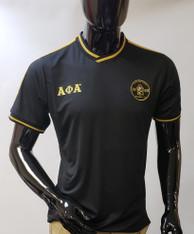 Alpha Phi Alpha Fraternity Soccer Jersey-Black