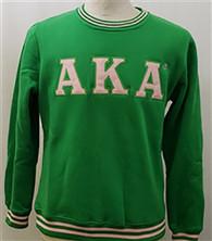 Alpha Kappa Alpha AKA Sorority Crewneck- Green