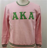 Alpha Kappa Alpha AKA Sorority Crewneck- Pink