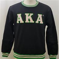 Alpha Kappa Alpha AKA Sorority Crewneck- Black