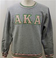 Alpha Kappa Alpha AKA Sorority Crewneck- Gray