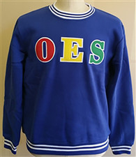 Order of the Eastern Star OES Crewneck-Blue