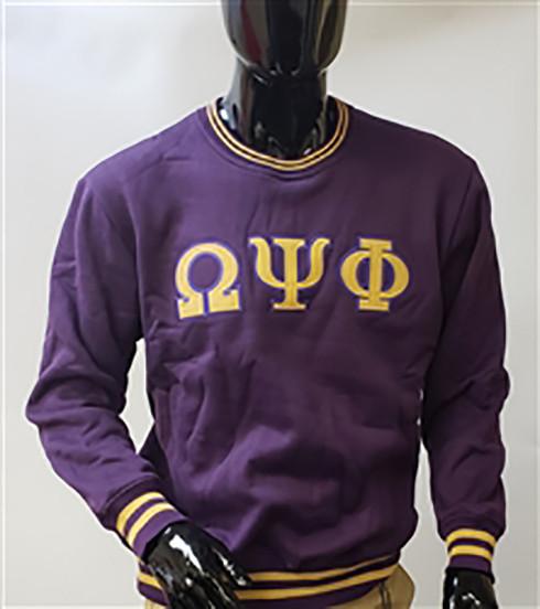 Omega Psi Phi Fraternity Crewneck-Purple