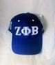 Zeta Phi Beta Sorority Three Greek Letter Baseball Hat- Blue