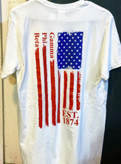 Gamma Phi Beta Sorority American Flag Shirt-Back