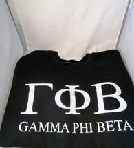 Gamma Phi Beta Sorority Crewneck Sweatshirt- Black