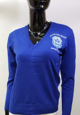 Zeta Phi Beta Sorority Pull Over Cardigan- Blue