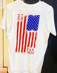 Chi Phi Fraternity American Flag Shirt