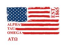 Alpha Tau Omega Fraternity American Flag Shirt- Style 2
