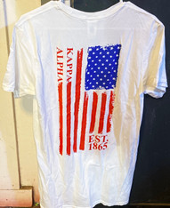 Kappa Alpha Fraternity American Flag Shirt- Style 2
