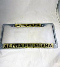 Alpha Phi Alpha Fraternity Founding Year License Plate Frame- Gold/Black- Style 2
