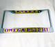 Omega Psi Phi Fraternity Founding Year License Plate Frame- Style 2- Gold/Purple