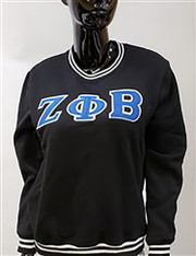 Zeta Phi Beta Sorority Crewneck-Black